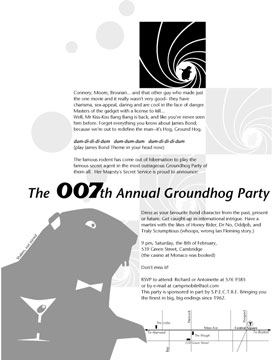 1997 Groundhog party invitation