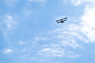 Lovely day for a biplane