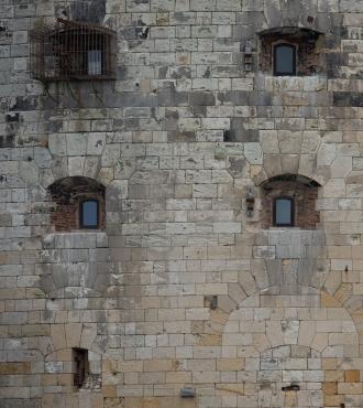 Stonework at Fort Boyard