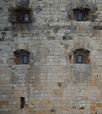 Stonework at Fort Boyard